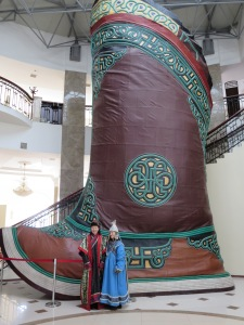 Introducing the world's largest shoe! Japanese tourists dressed as Mongolians really made the photo though... I guess they don't take it personally that the Mongols during their reign attempted to invade their country by boat in the 13th century! (Clearly the Mongols were out of their element.) No hard feelings!