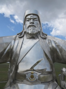 Chinggis Khan, from the top of his horse's head!