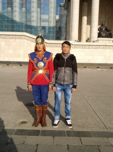 Which Mongolian is my student and which is the soldier? I can't even tell!