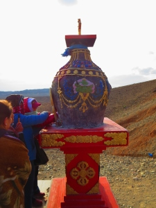 Near the base of the mountain, people write wishes on pieces of paper and burn them in this incense burner in hopes that they will come true! I saw one woman with several full pages of handwriting. She must have a life-plan!