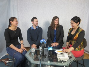 Live TV interview with my wonderful colleagues!